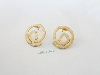 Base orecchini a spirale colore oro nickel free 1coppia