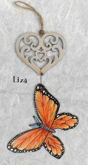 """Decorazione da appendere con sagoma """"farfalla"""""""