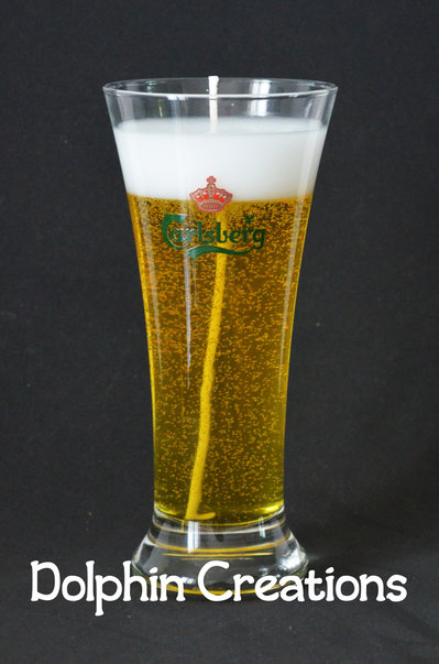 "Candela profumata birra ""Carlsberg"""