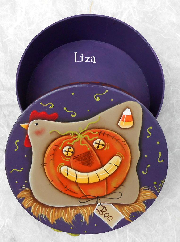 Scatola di cartone porta caramelle e dolcetti per Halloween