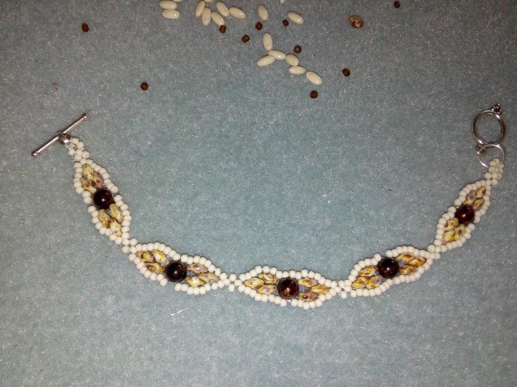 Braccialetto avorio marrone