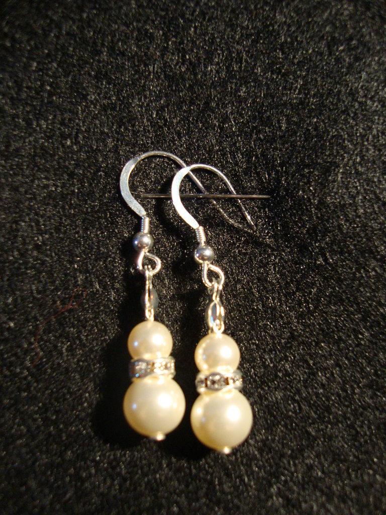 Orecchini con perle Swarovski