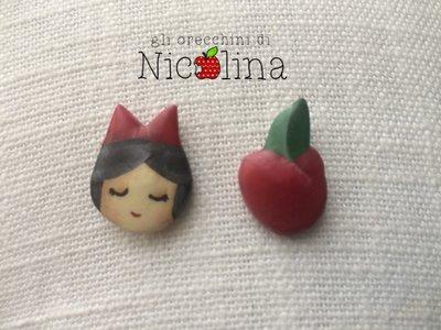 Lobini C'era una volta ... Biancaneve e mela senza morso con perno incorporato