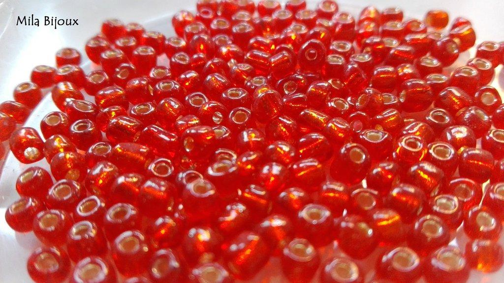 perline arancione trasparente 4 mm 200 pz