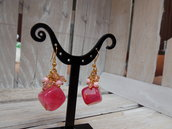 Orecchini sfumature di rosa