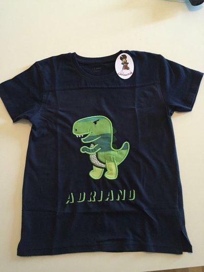 T-shirt con ricami Applique