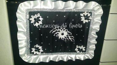 Copriforno Vanity con fiori