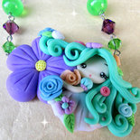 Collana Fata dei Fiori in Fimo Handmade