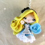 Collana Alice nel Paese delle Meraviglie in Fimo Handmade