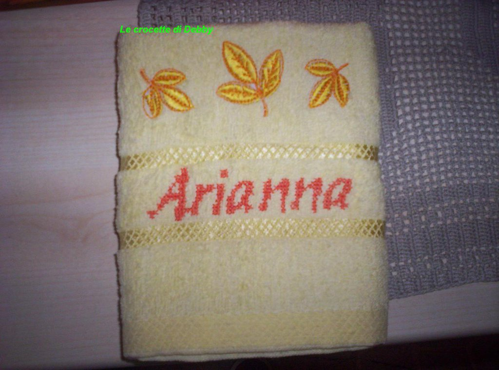 asciugamano bimbi asilo