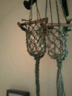Lanterna legno e intreccio