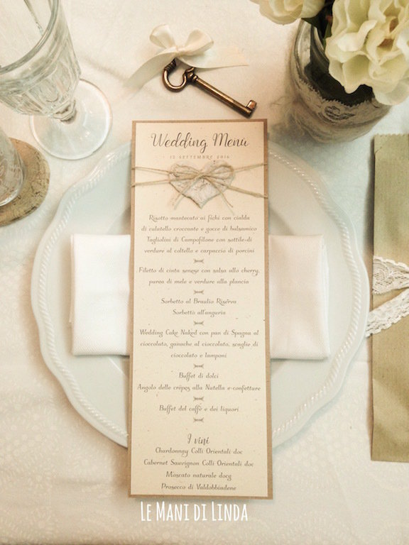 Matrimonio Shabby Chic Country : 10 menù country shabby chic feste matrimonio di pepilla le