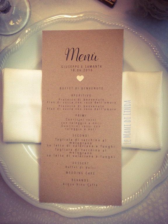 Matrimonio Shabby Chic Country : 10 menù country shabby chic carta kraft feste matrimonio di p
