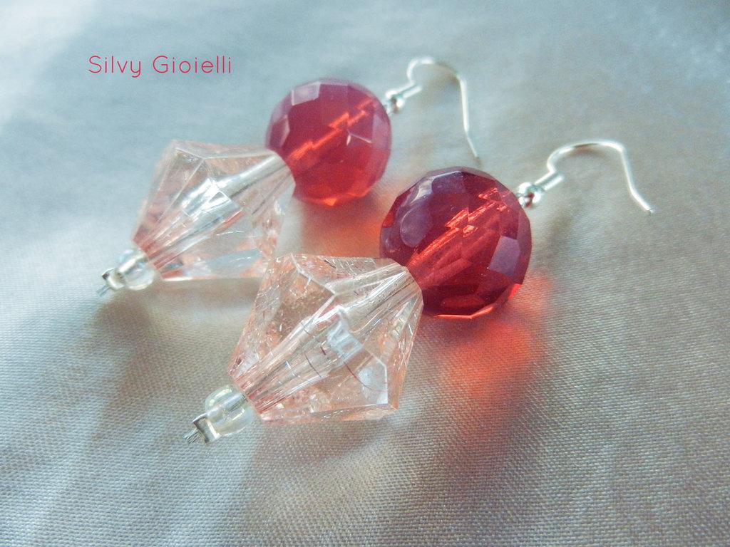 Orecchini con perle rosa
