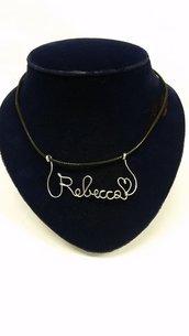 collana con nome personalizzato fatto a mano