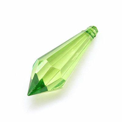 Perla acrilica a goccia 31x10mm lotto 60 pz verde