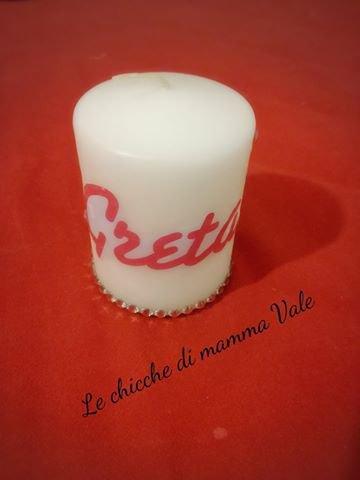 candela personalizzata bomboniera, natale compleanni
