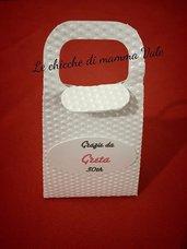 scatolina borsetta bomboniera confettata portariso matrimonio