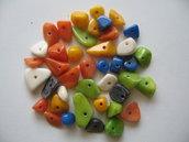 40pz Perle sassolino colorate