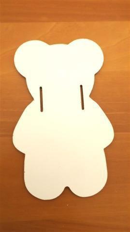 INSERZIONE RISERVATA PER GIO - 3 pezzi orsetti decoro legno cameretta - no fimo