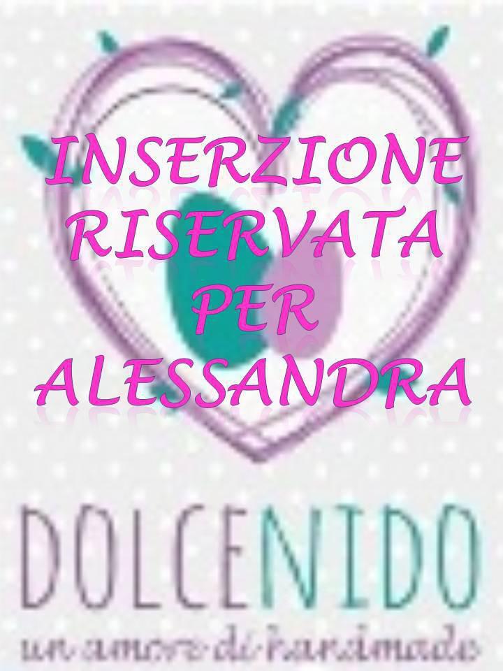 Inserzione riservata per Alessandra