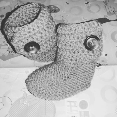 Stivaletti scarpette scarpine tipo Hugg neonato BEBE'