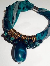 GIrocollo fettuccia smeraldo