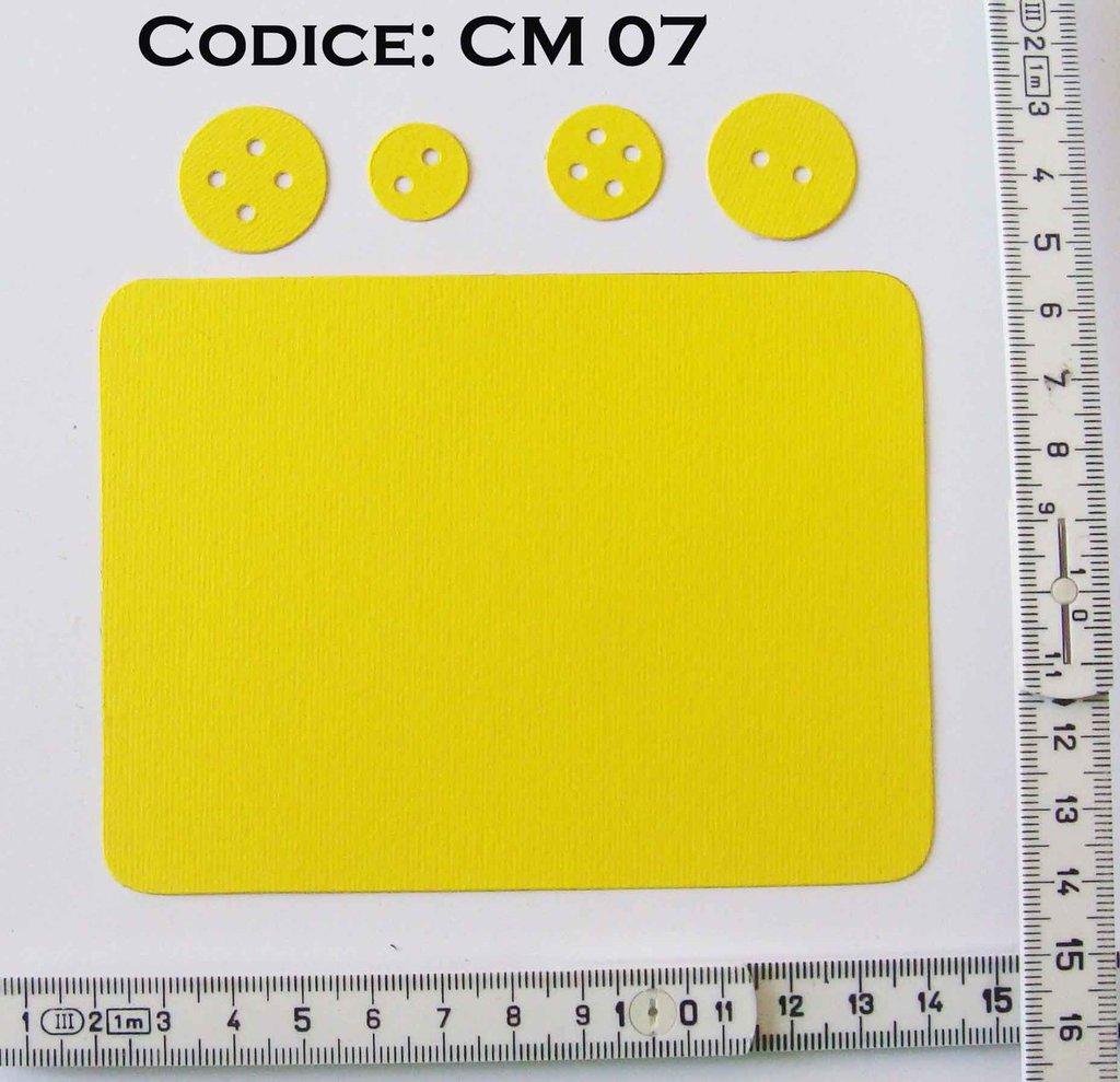 Fustellato Feltro Set Bottoni CM07