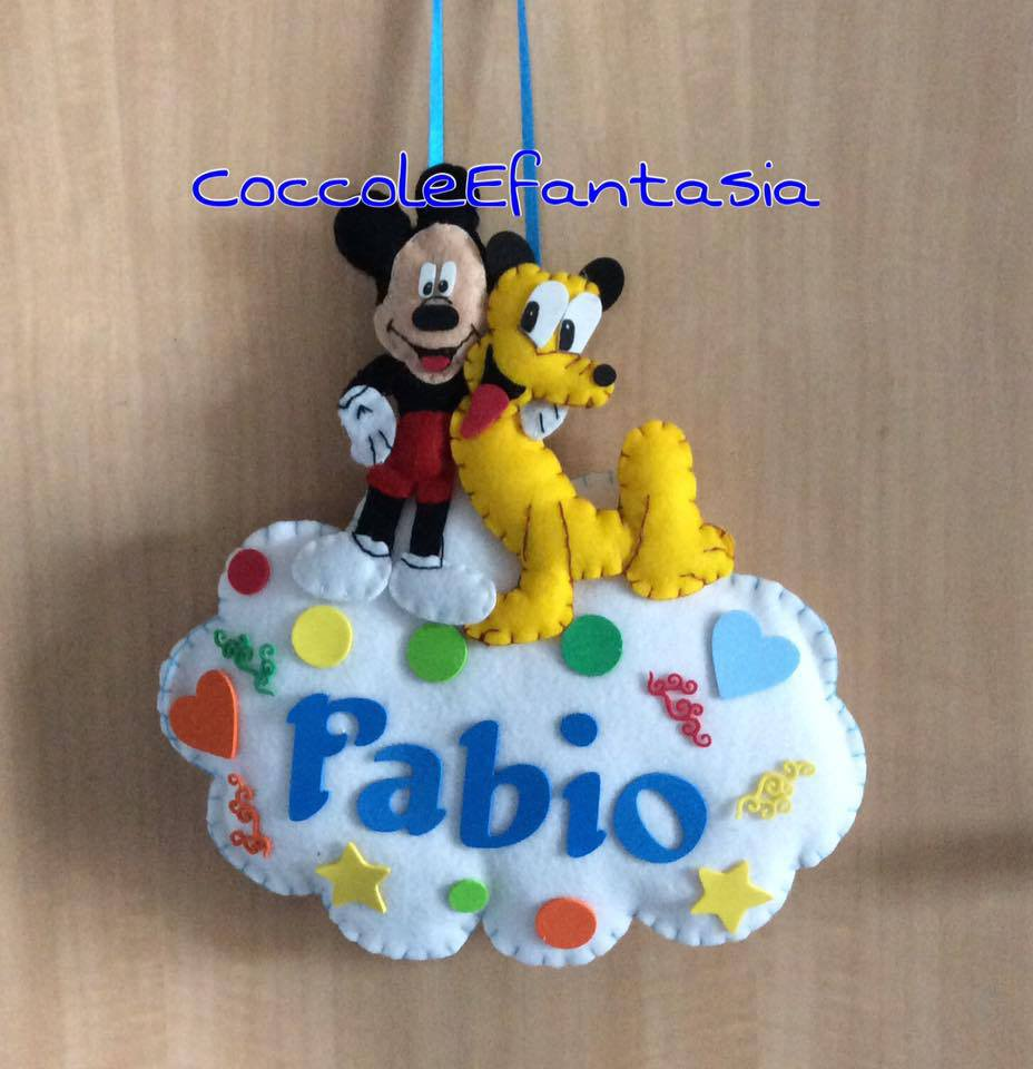 Fiocco nascita Topolino e Pluto