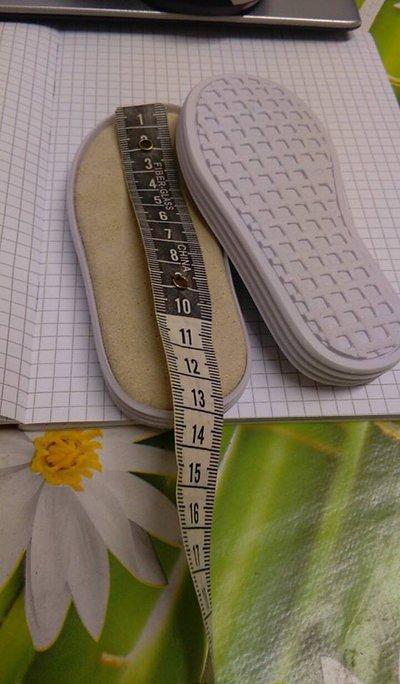 SUOLA PER SCARPETTA bimbi bianco modello 1 cm13