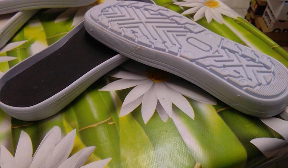 SUOLA PER SCARPETTA  bianco modello 6 cm 25 n 39