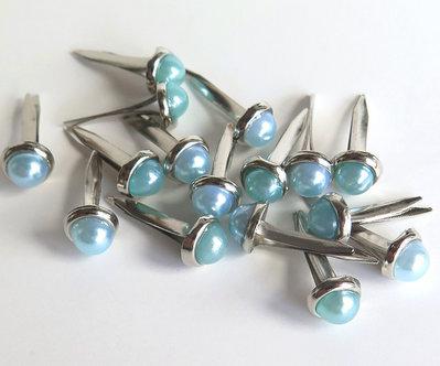 4 Perle PINS AZZURRO PRL258