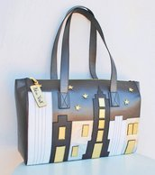 "Borsa Vera Pelle ""New York"". Modello Hannah Large"