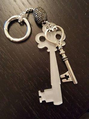 portachiavi 'la chiave' - satinata