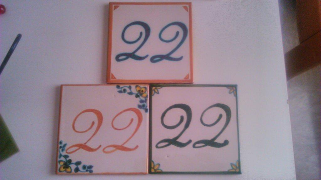 Fd bolletta arredamento e illuminazione numeri civici in ceramica