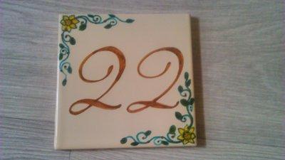 Numero civico targa ceramica insegna mattonella ovale con