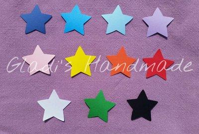 100 Tag a forma di stella grandi dimensioni (3,5cm×3,5cm)