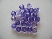 25pz Perline sfaccettate viola
