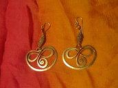 orecchini in rame battuto