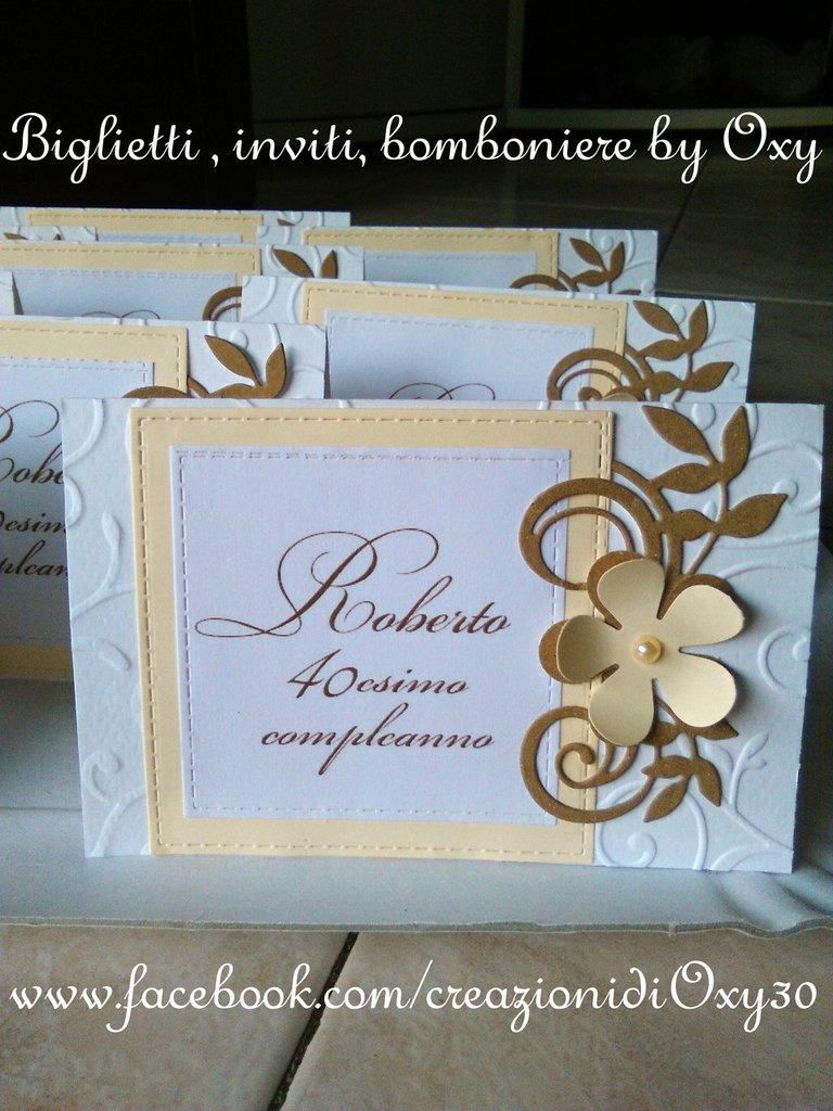 Biglietto Di Ringraziamento Matrimonio Battesimo Comunione Compl Su Misshobby