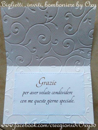 Biglietto Di Ringraziamento Matrimonio Battesimo