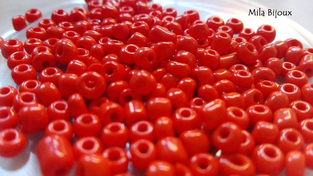 perline rosso chiaro 4 mm 200 pz