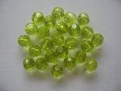 25pz Perline sfaccettate verde