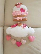 Fiocco nascita / nuvoletta cupcake