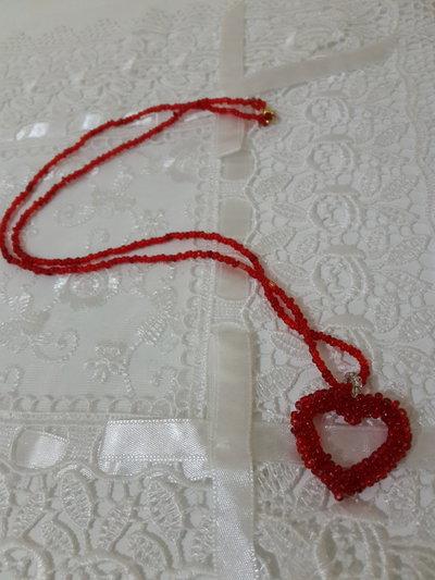 Collana perline cuore