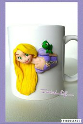 tazza ceramica rapunzel