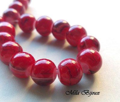 perle rosse fantasia 8 mm