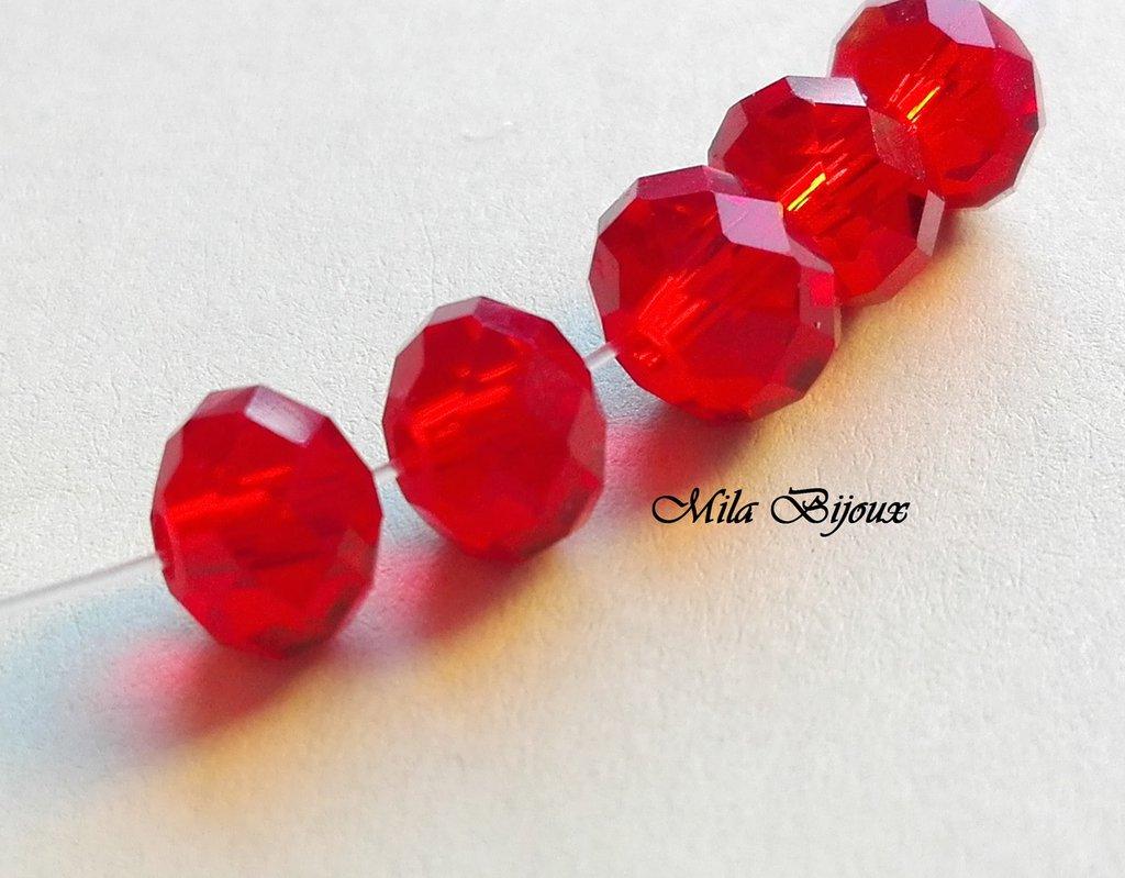 perle ovali sfaccettate 8 mm
