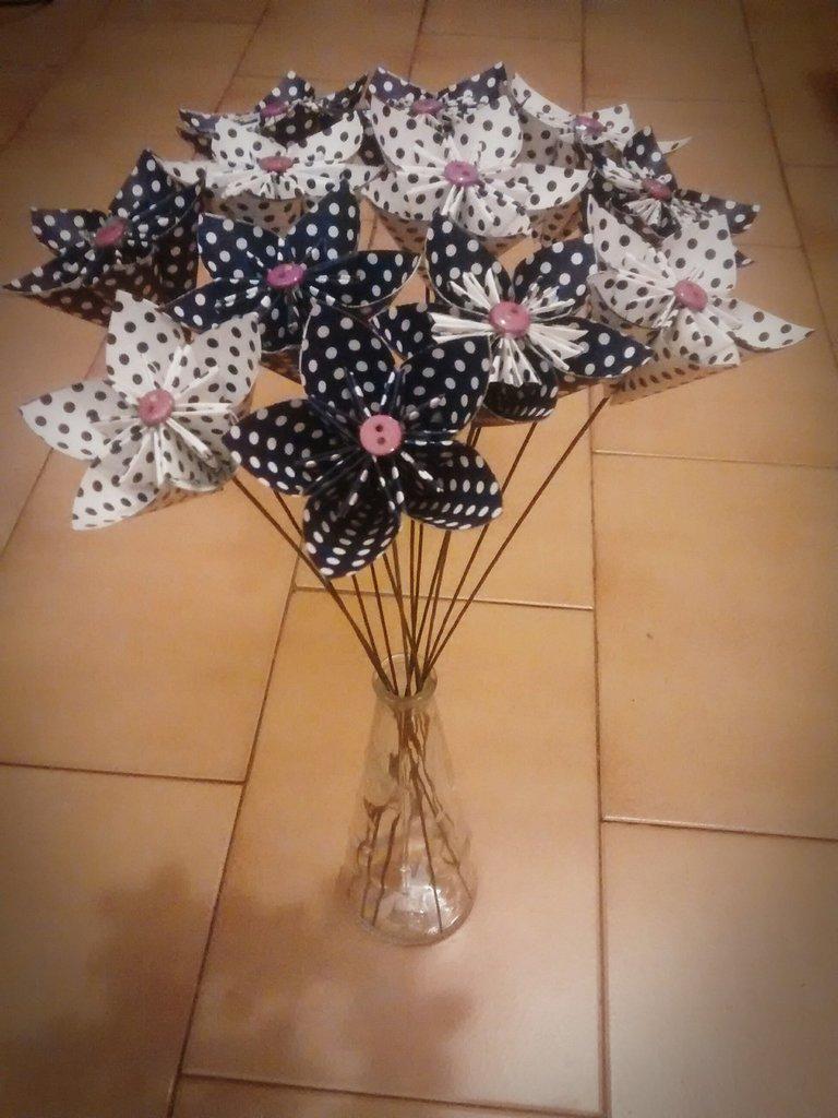 Fiori, bouquet, origami