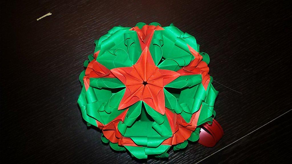 *palla natalizia kusudama*